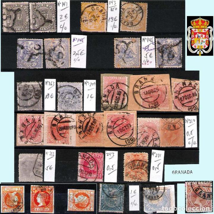 Sellos: GRANADA Y PROV.- H. POSTAL, MATASELLOS, LOCALES Y PATRIOTICOS. P.V. 7.819 €.VER 14 FOTOS.CONDICIONES - Foto 9 - 31678711