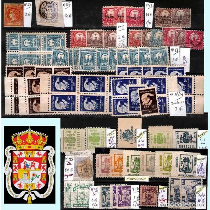 Sellos: GRANADA Y PROV.- H. POSTAL, MATASELLOS, LOCALES Y PATRIOTICOS. P.V. 7.819 €.VER 14 FOTOS.CONDICIONES - Foto 13 - 31678711