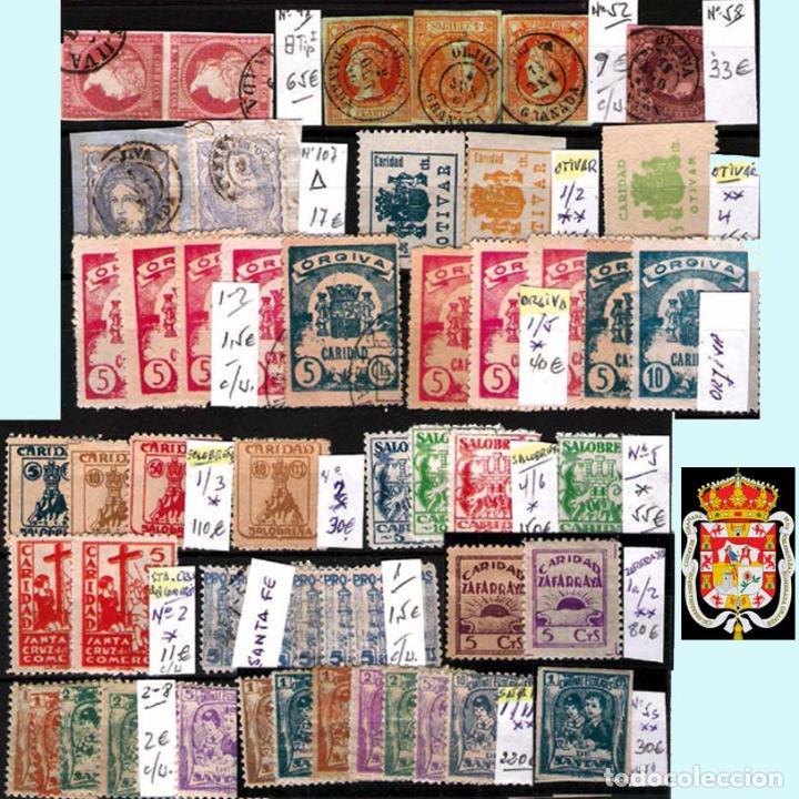 Sellos: GRANADA Y PROV.- H. POSTAL, MATASELLOS, LOCALES Y PATRIOTICOS. P.V. 7.819 €.VER 14 FOTOS.CONDICIONES - Foto 15 - 31678711
