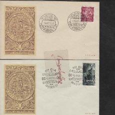 Sellos: Nº ED 1126/8 AÑO 1953 - VII CENT. UNIVERSIDAD SALAMANCA -SOBRE PRIMER DÍA RARA ILUSTRACIÓN. Lote 102340159