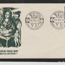 Sellos: Nº ED 1184 AÑO 1955 - NAVIDAD , RELIGIÓN -SOBRE PRIMER DÍA DE S.F.C. SERVICIO FILATÉLICO. Lote 102367807