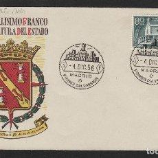 Sellos: Nº ED 1199 AÑO 1956 - XX ANIV EXALTACIÓN DEL CAUDILLO FRANCO A JEFATURA . SOBRE PRIMER DÍA S.F.C.. Lote 102371279