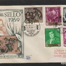Sellos: AÑO 1959 - PINTURA DIEGO VELÁZQUEZ -SOBRE PRIMER DÍA CIRCULADO ITALIA DE D.P . Lote 102378367