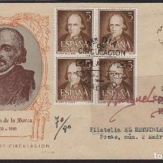 Sellos: Nº ED 1071 AÑO 1950 -CALDERÓN DE LA BARCA - . SOBRE PRIMER DÍA CIRCU LADO DE E. GOMIS . Lote 102453499