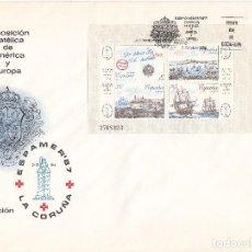 Sellos: SOBRE: 1987 LA CORUÑA. ESPAMER - 87. Lote 103056099
