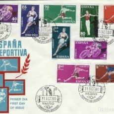 Sellos: SPD 1306/19 SERIE DEPORTES EN SOBRE GRANDE TAMAÑO 200X140. Lote 103112575