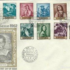 Sellos: SPD 1418/27 PINTOR FRANCISCO DE ZURBARAN EN SOBRE GRANDE TAMAÑO 200X140. Lote 103114159