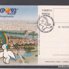Sellos: ,,,1990 SEVILLA 22/2 PRIMER DIA 3051 SIN SELLO EXPO 92 TARJETA OFICIAL 12 EXP. UNVERSAL SEVILLA 1992. Lote 103671547