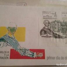 Sellos: SOBRE MATASELLADO PRIMER DIA DE CIRCULACION CARLOS III- CONTIENE SELLO ADICIONAL. Lote 105054171