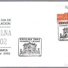 Sellos: MATASELLOS PRIMER DIA - EXFILNA 2002. SALAMANCA 2002. Lote 105748831