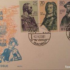 Sellos: SPD 1961 FIESTA DE LA HISPANIDAD. COLONIZADORES DE NUEVA GRANADA. ALFIL. Lote 105765730