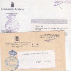 Sellos: 5 SOBRES CON FRANQUICIA POSTAL (MURCIA,VALENCIA,MADRID,QUINTANAR Y ALBALAT DELS SORELLS) VER IMAGEN. Lote 105821043