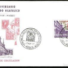 Sellos: SOBRE PRIMER DIA 50º ANIV. DEL MERCADO FILATELICO PLAZA MAYOR - MADRID. Lote 106570091