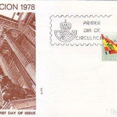 Sellos: PROCLAMACION DE LA CONSTITUCION ESPAÑOLA 1978 (EDIFIL 2507) EN SOBRE PRIMER DIA DE ALFIL. RARO ASI.. Lote 106592071