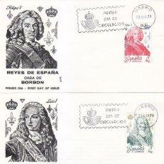 Sellos: REYES DE ESPAÑA CASA DE BORBON 1978 (EDIFIL 2496/2505) EN DIEZ SOBRES PRIMER DIA DE ALFIL. RAROS ASI. Lote 106592299