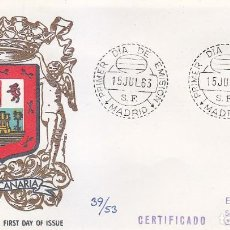 Sellos: ESCUDO DE GRAN CANARIA 1963 MATASELLOS MADRID (EDIFIL 1487) EN SOBRE PRIMER DIA CIRCULADO ALFIL RARO. Lote 106592831