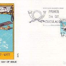 Sellos: L 50 ANIVERSARIO FUNDACION DE LA COMPAÑIA AEREA IBERIA 1977 (EDIFIL 2448) EN SOBRE PRIMER DIA ALFIL.. Lote 106593343