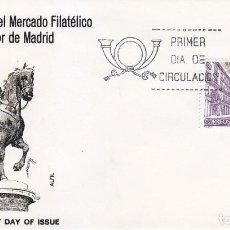 Sellos: MERCADO FILATELICO PLAZA MAYOR 50 L ANIVERSARIO 1977 (EDIFIL 2415) EN SOBRE PRIMER DIA DE ALFIL.. Lote 106593639
