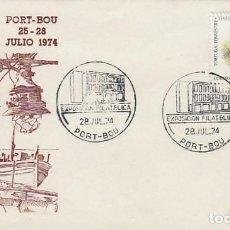 Sellos: AÑO 1974, EXPOSICION EN PORT-BOU (GIRONA), EN SOBRE DE ALFIL. Lote 107311383
