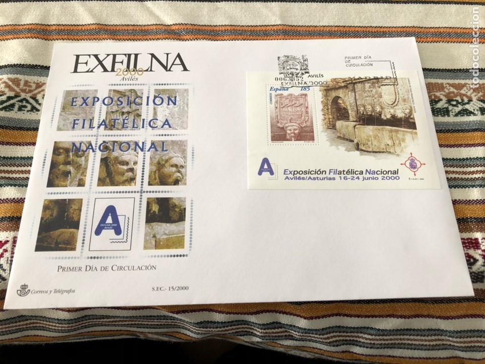 SPD AÑO 2001 EXFILNA EDIFIL 3716 (Sellos - Historia Postal - Sello Español - Sobres Primer Día y Matasellos Especiales)