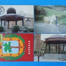 Sellos: 4 TARJETAS POSTAL MATASELLOS - I EXPO DE LA TARJETA POSTAL ANTIGUA BIZKAIA, BILBAO, 1991 ... R-7093. Lote 96977559