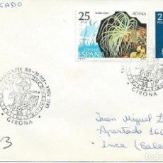 Sellos: 1980. GIRONA. POSTMARK. BARNAFIL.TAPIZ CATEDRAL. ARTE/ART. TAPESTRY OF THE CREATION. CATHEDRALS.. Lote 108938279