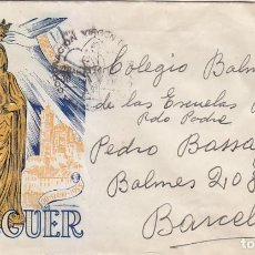 Sellos: RELIGION CORONACION VIRGEN DEL MILAGRO, BALAGUER (LERIDA) 1955 RARO MATASELLOS EN SOBRE CIRCULADO EO. Lote 109179859