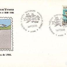 Briefmarken - SOBRE: 1980 VITORIA: CONMEMORACION INAGURACION AEROPUERTO FORONDA - 109374927