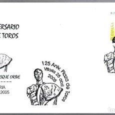 Sellos: MATASELLOS 125 AÑOS PLAZA DE TOROS - NOVILLERO ENRIQUE ORIVE. VITORIA. ALAVA, 2005. Lote 113322006