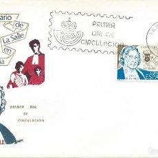 Sellos: 1979. BARCELONA. SOBRE PRIMER DÍA. F.D.C. CENTº DE LA SALLE (SELLO EDIFIL 2511). RELIGION.. Lote 110621367