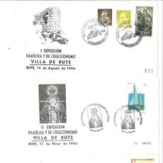 Sellos: 3 SOBRES. I Y II EXPOSICIÓN VILLA DE RUTE III EXPO. FILAT. Y DE COLECCIONISMO, EXFICOLUC´93, LUCENA. Lote 110954815