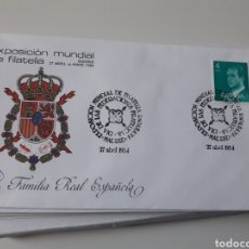 Sellos: 11 SOBRES FAMILIA REAL ESPAÑOLA EXPOSICION MUNDIAL FILATELIA 1984 MATASELLOS FDC SOBRES PRIMER DIA. Lote 111350092