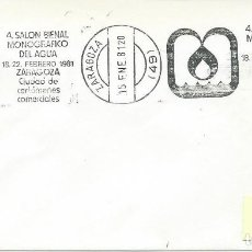 Sellos: 1981. ZARAGOZA. RODILLO/SLOGAN. SALÓN MONOGRÁFICO DEL AGUA. SALON OF WATER. NATURALEZA/NATURE.. Lote 111384611