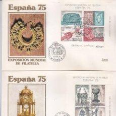 Sellos: 44 CONGRESO FIP EN ESPAÑA 75, MADRID 14 ABRIL 1975 MATASELLOS DOS SOBRES DE MF (EDIFIL 2252/53) GMPM. Lote 111452711