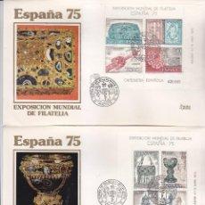 Sellos: DIA FILATELIA JUVENIL EN ESPAÑA 75, MADRID 11 ABRIL 1975. MATASELLOS DOS SOBRES EDIFIL 2252/53. GMPM. Lote 111454051