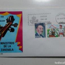 Sellos: SOBRE PRIMER DIA DE CIRCULACIÓN. MAESTROS DE LA ZARZUELA. MADRID. 1983. SELLOS. MATASELLOS.. Lote 112070347