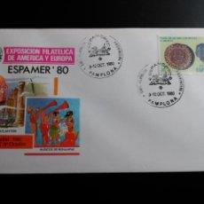 Sellos: SOBRE MATASELLO EXPAMER 1980. MADRID 1980. MATASELLO PAMPLONA.. Lote 112154987