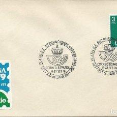 Sellos: 1979. RIO JANEIRO-CORREO ESPAÑOL. POSTMARK. EXP. FILAT. BRASILIANA'79. PHILATELIC EXHIBITION.. Lote 112584027