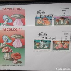 Sellos: ESPAÑA. SPD3279/82 MICOLOGÍA: BOLETO, HONGO, AMANITA Y ÑÍSCALO. 1994. MATASELLO: 18 FEB. 1994 MADRID. Lote 113237887