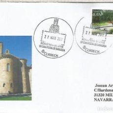 Sellos: CC CON MAT TURISTICO MONASTERIO DE LEYRE NAVARRA. Lote 113246810