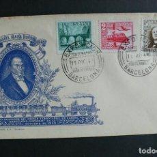 Sellos: ESPAÑA 1949 - EXPOSICION CENTENARIO DE FERROCARRILES - EDIFIL Nº 1037-1039. Lote 113565967
