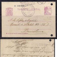 Sellos: RODILLO PUBLICITARIO IX FERIA DE BARCELONA 1936 NO CATALOGADO. Lote 113699759