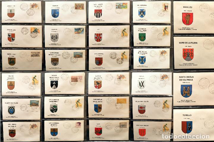 COLECCION 31 SOBRES MATASELLOS ESPECIAL ECUDOS HERALDICOS CATALUÑA EDICION LIMITADA (Sellos - Historia Postal - Sello Español - Sobres Primer Día y Matasellos Especiales)