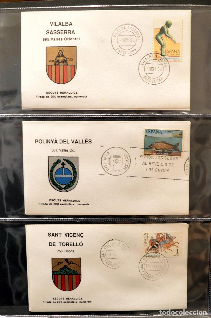 Sellos: COLECCION 31 SOBRES MATASELLOS ESPECIAL ECUDOS HERALDICOS CATALUÑA EDICION LIMITADA - Foto 3 - 113913971