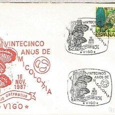 Sellos: VIGO MICOLOGIA SETAS HONGOS FUNGI MUSHROOM. Lote 179319072