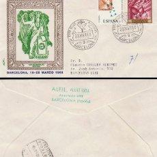 Sellos: AÑO 1968, BARCELONA, SELLO MISIONAL (MISIONES), SOBRE SAN ESTANISLAO DE KOSTKA, ALFIL CIRCULADO. Lote 114087431