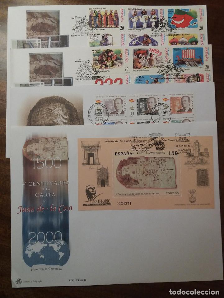 LOTE SPD 2000 (Sellos - Historia Postal - Sello Español - Sobres Primer Día y Matasellos Especiales)