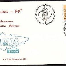Sellos: SOBRE CONM. XXV ANIV. CLUB FILATELICO MIERENSE - EXFIMIERES 84. Lote 114504987