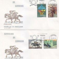 Sellos: SERVICIOS DE CORREOS 1976 (EDFIL 2329/32) EN DOS SOBRES PRIMER DIA DEL SERVICIO FILATELICO.. Lote 114582455