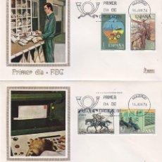 Sellos: SERVICIOS DE CORREOS 1976 (EDFIL 2329/32) EN DOS SOBRES PRIMER DIA DE MUNDO FILATELICO.. Lote 114582483